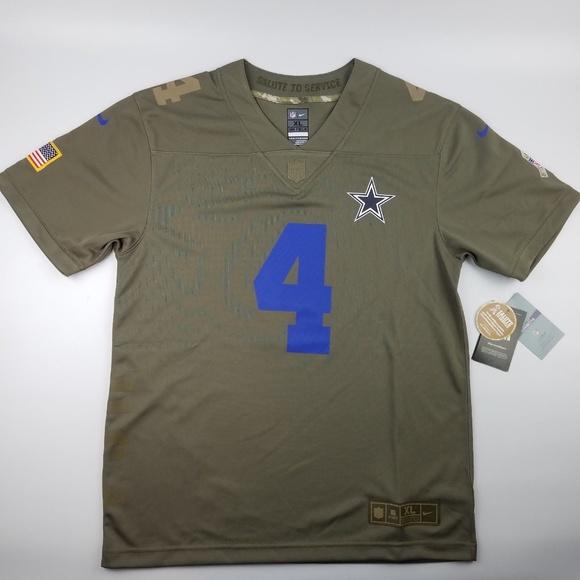 818975df9 nike dallas cowboys Dak Prescott Jersey salute NWT